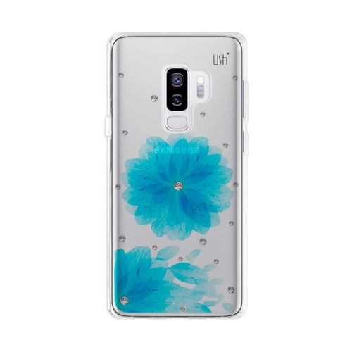 Capa-USH-Galaxy-S9-Plus-flor-azul