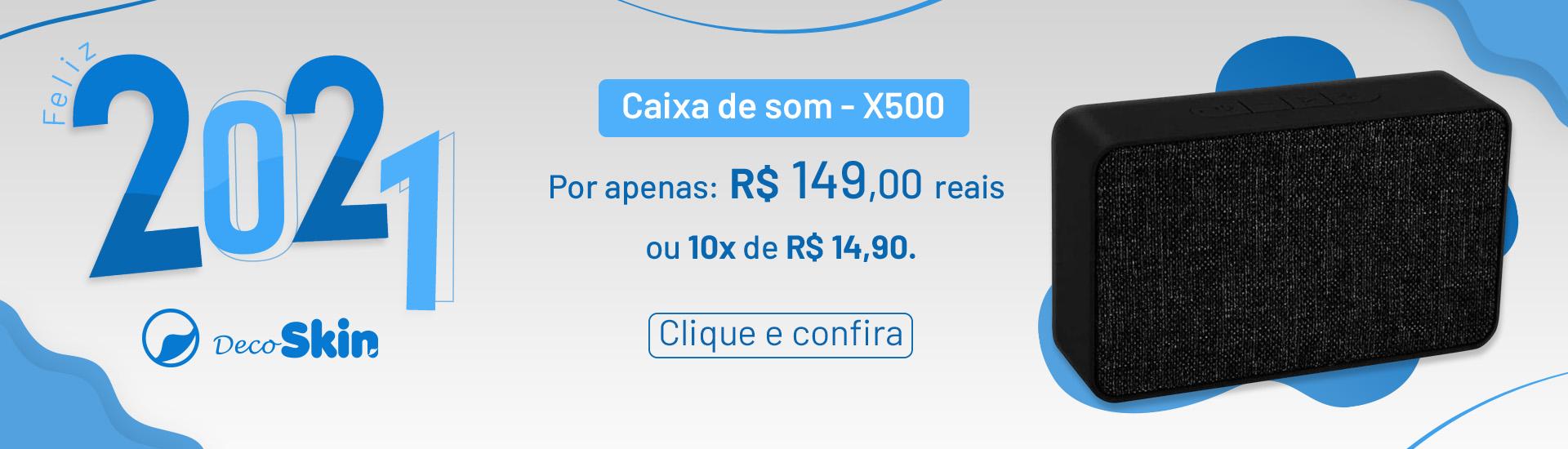 05 Caixa de Som X500 | Desktop 1920x550