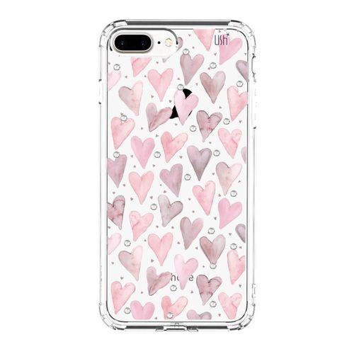 Capa-iPhone-7-8-Plus-Coracoes-Aquarelados
