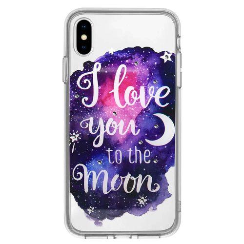 Capa-iPhone-X-XS-I-Love-You-To-The-Moon-com-Cristais