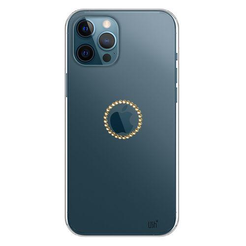 capa_iphone_12_pro_max_logo_cristal_DOURADO