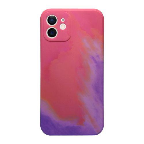 Capa-iPhone-12-Silicone-Camuflado-Rosa-e-Roxo