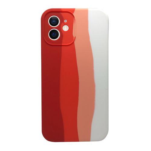 Capa-iPhone-12-Silicone-Degrade-Vermelho-e-Branco